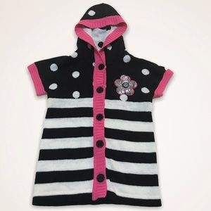 🌺YOUNG HEARTS Sequin Button Front Hooded Sweater